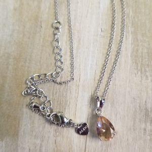 Tiny teardrop shaped necklace